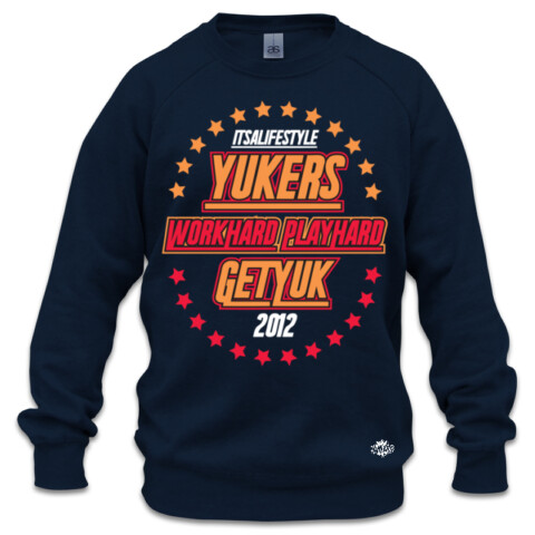 YUKERS STARS BOXCREW RED - YUKERS
